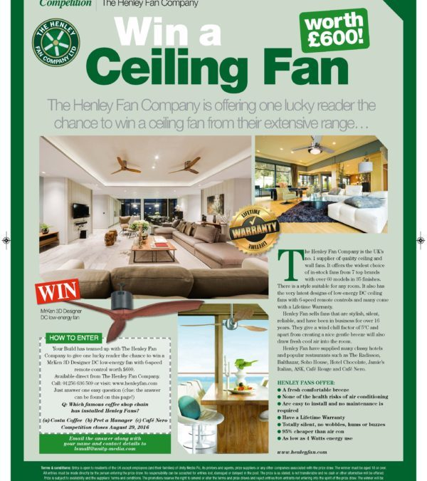 Win a MrKen Designer Ceiling Fan Worth £600!