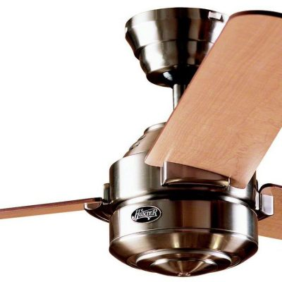 Hunter Carera Ceiling Fan In Brushed Nickel, With Free Light Kit And Drop Rod - Bargain 60% off!