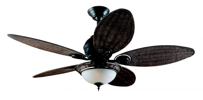 Hunter caribbean breeze ceiling fan in weathered bronze aloadofball Image collections