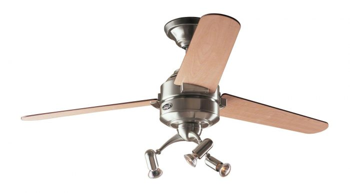 Hunter carera ceiling fan in brushed nickel with light kit drop rod hunter carera ceiling fan aloadofball Gallery