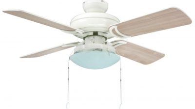 "Star Hugger Ceiling Fan With Light Kit 42""/107cm in Titanium or White, 10 Year Warranty"