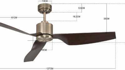 "Lucci Airfusion Climate II Low Energy DC Ceiling Fan, 50""/127cm - 10 Year Warranty"