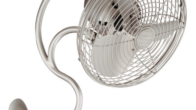 Matthews-Atlas Melody Art Nouvaeu Oscillating Wall Fan