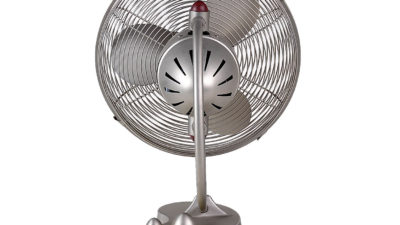 Matthews-Atlas Cinni Art Nouveau Oscillating 3-Speed Desk Fan, Damp Location, 5 Year Warranty - Last 2 left!