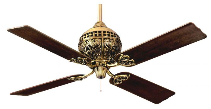 Hunter 1886 series ceiling fan limited edition in burnished brass hunter 1886 series ceiling fan aloadofball Images