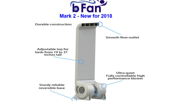 The Cool Sleep bFan Bed Fan – 240v, 10 Year Warranty