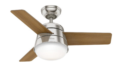 Hunter Finley Ceiling Fan 91cm Brushed Nickel - New 2020